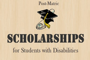 Post-matric Scholarship for Persons with Disabilities