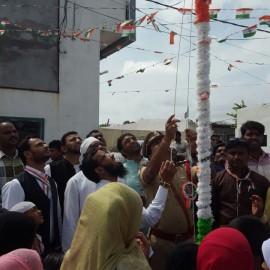 flag hoisting at the basti
