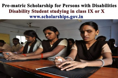Pre-matric Scholarship for Persons with Disabilities