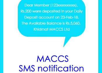 MACCS SMS notification service launched